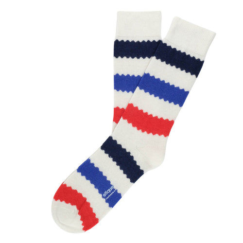 Cashmere x Merino Striped Men's Socks