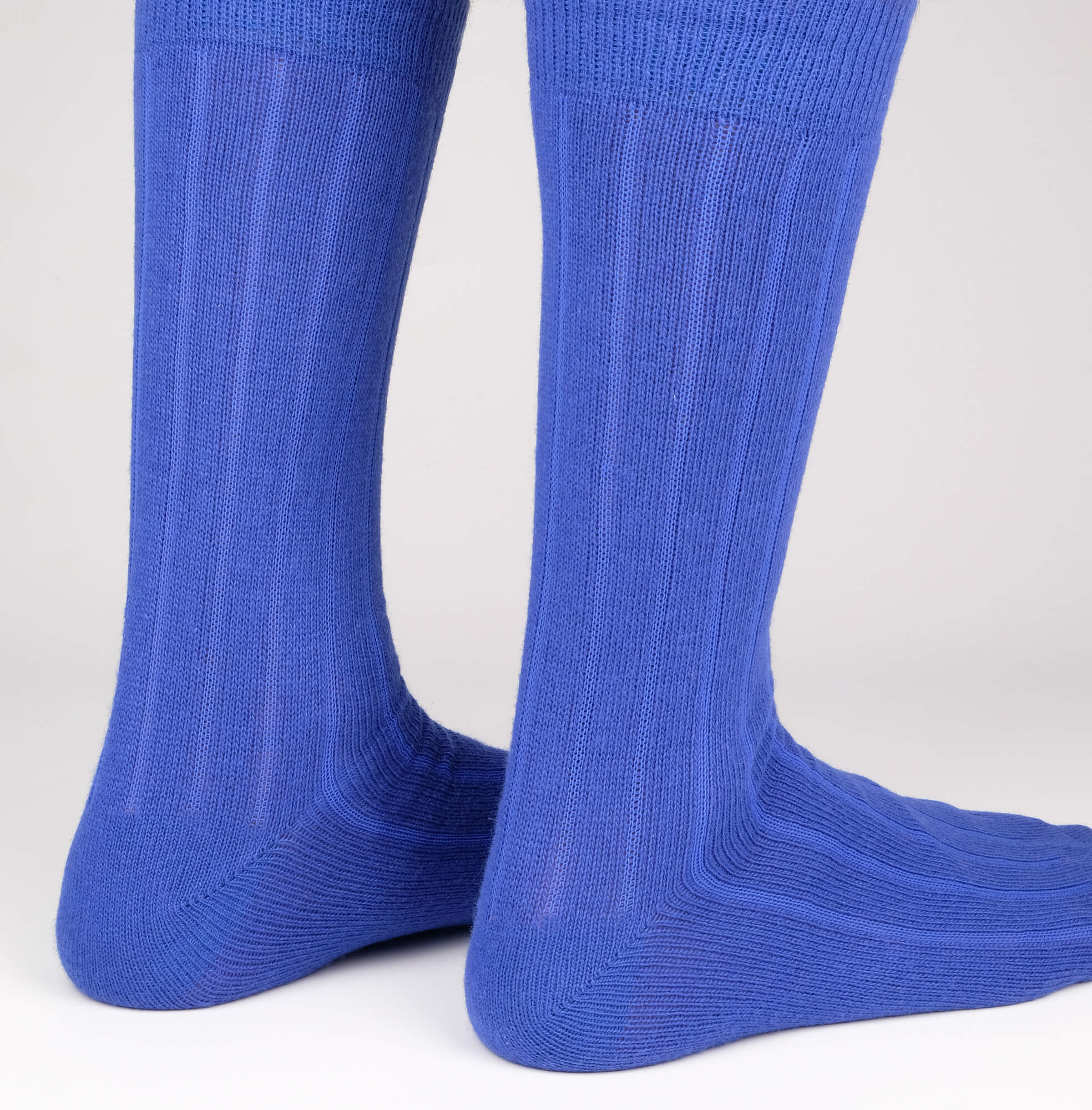 Mens Socks - Cashmere x Merino Ribbed - Blue⎪Etiquette Clothiers