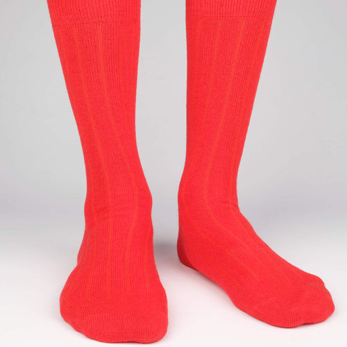 Cashmere x Merino Ribbed Men's Socks  - Alt view