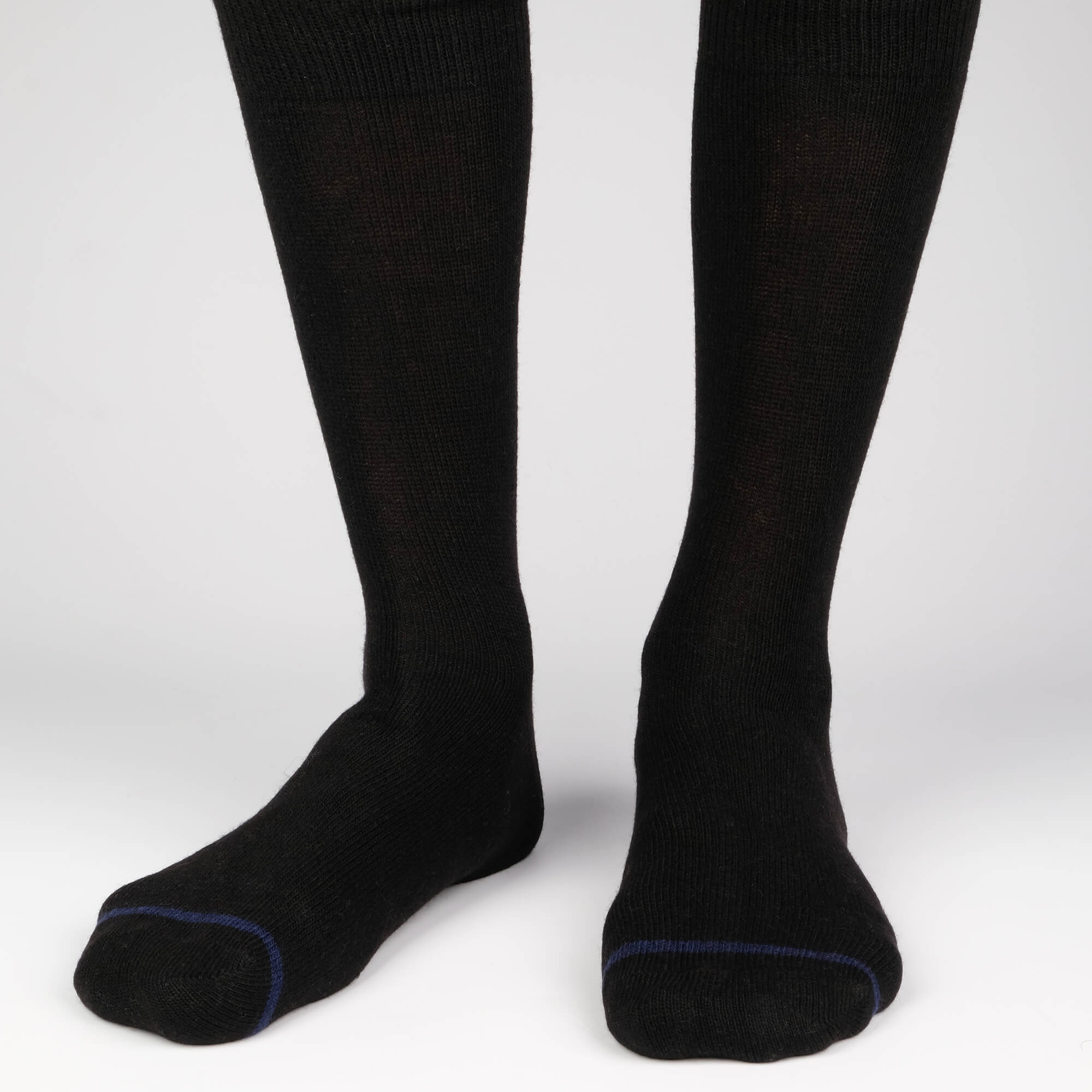 Mens Socks - Cashmere x Merino Men's Socks - Black⎪Etiquette Clothiers