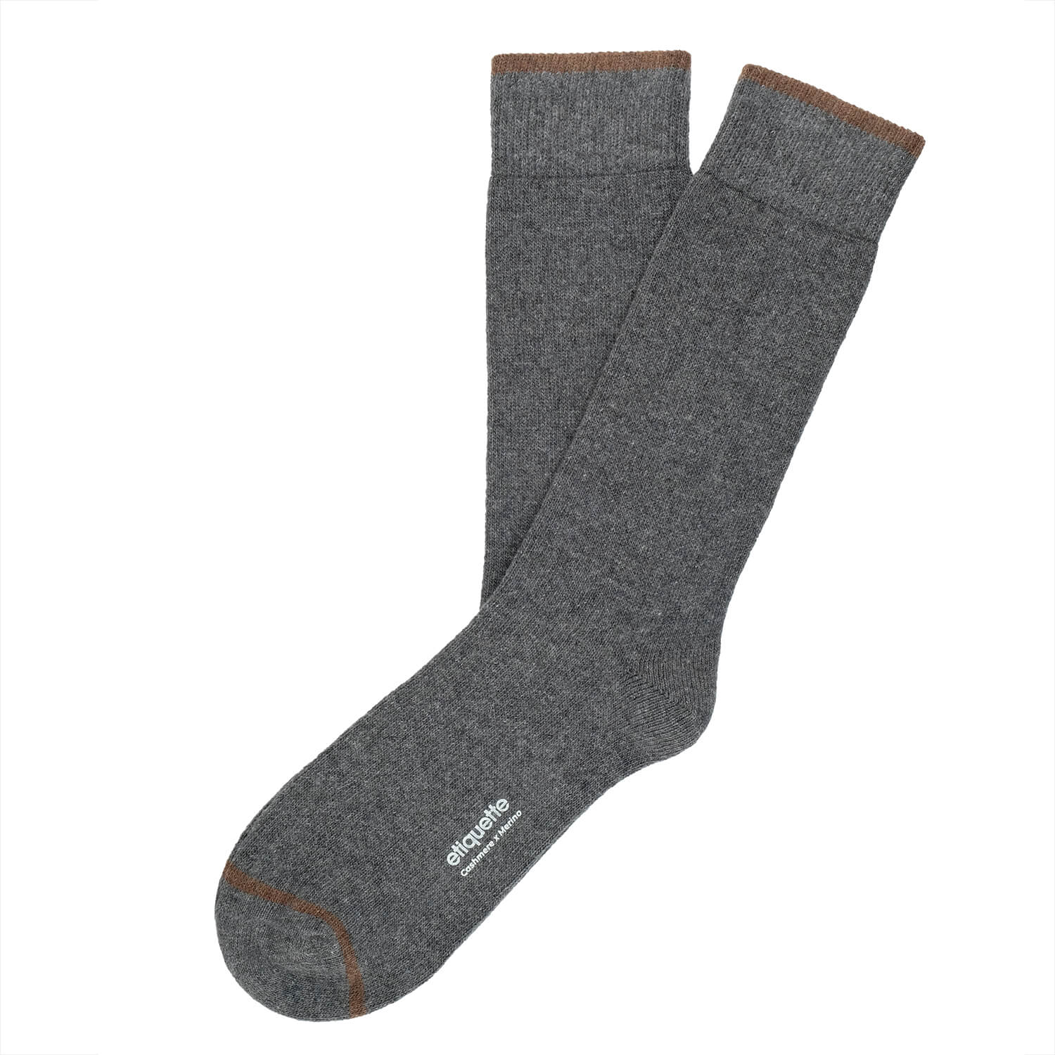 Mens Socks - Cashmere x Merino Men's Socks - Dark Grey⎪Etiquette Clothiers