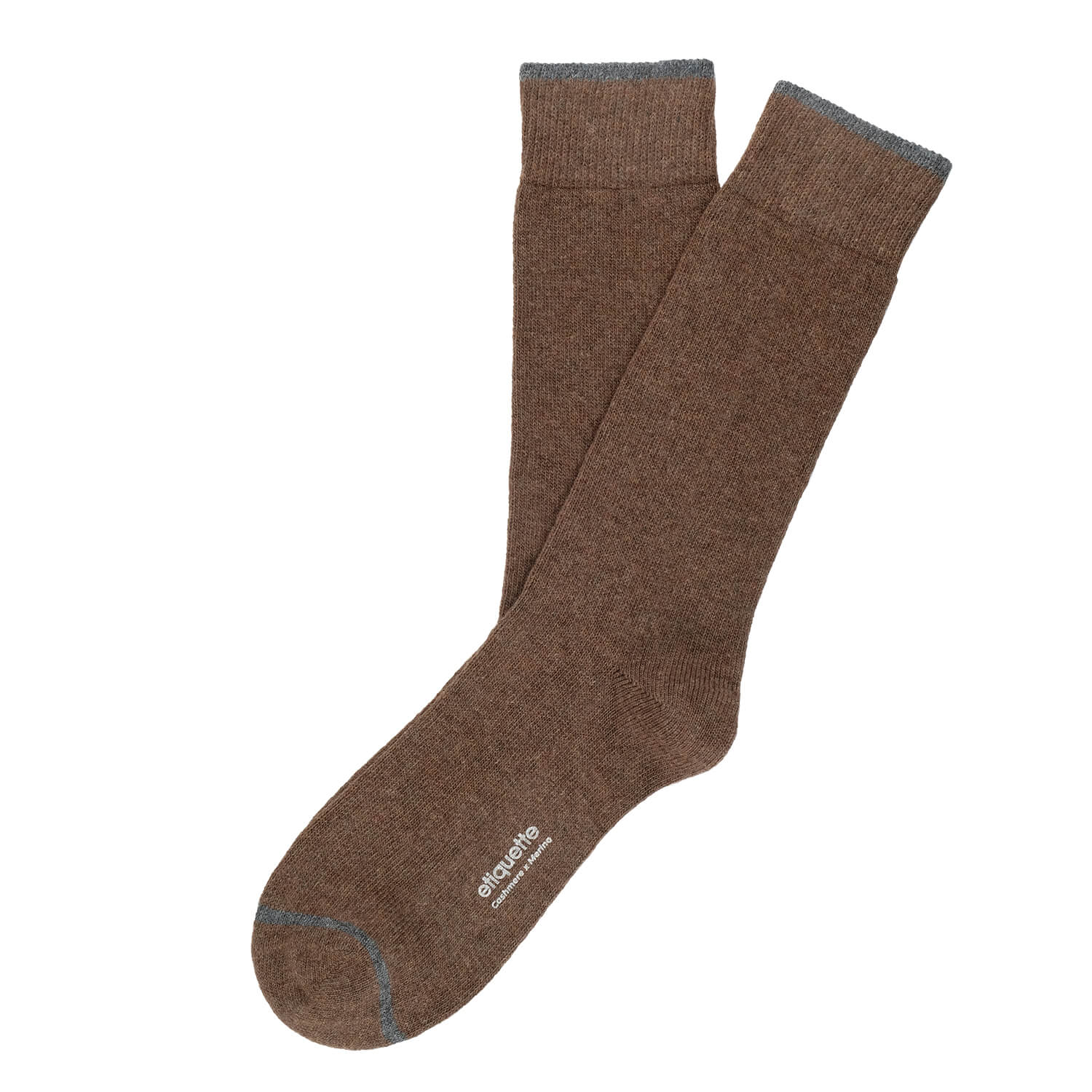 Mens Socks - Cashmere x Merino Men's Socks - Brown⎪Etiquette Clothiers