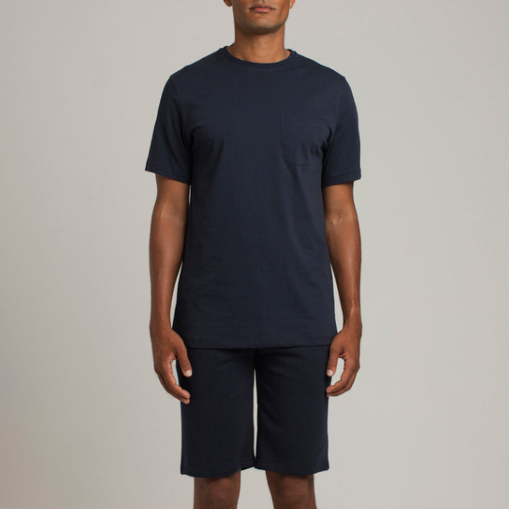 Mens Loungewear - Men's Graphic Bedford Crew Neck T-Shirt - Dark Blue⎪Etiquette Clothiers
