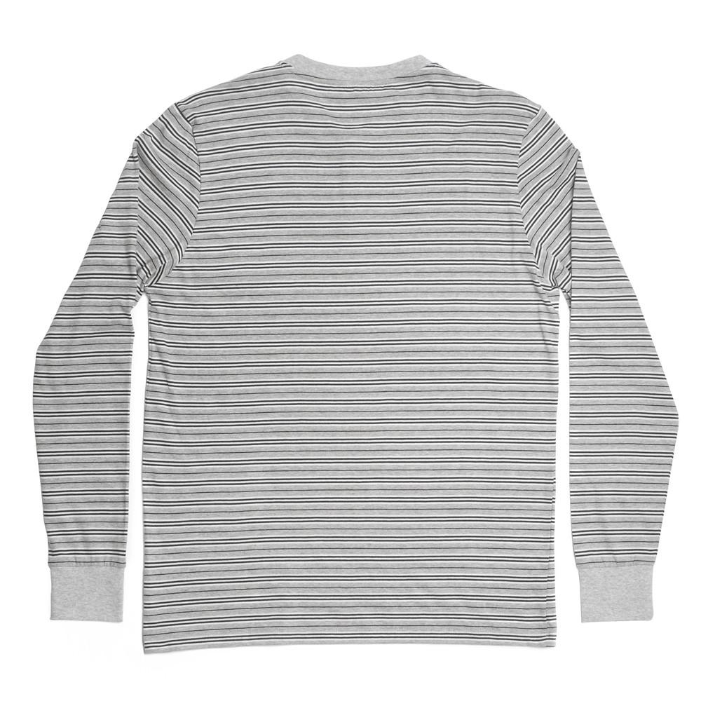 Mens Loungewear - George Henley Crewneck Long Sleeve - Grey⎪Etiquette Clothiers