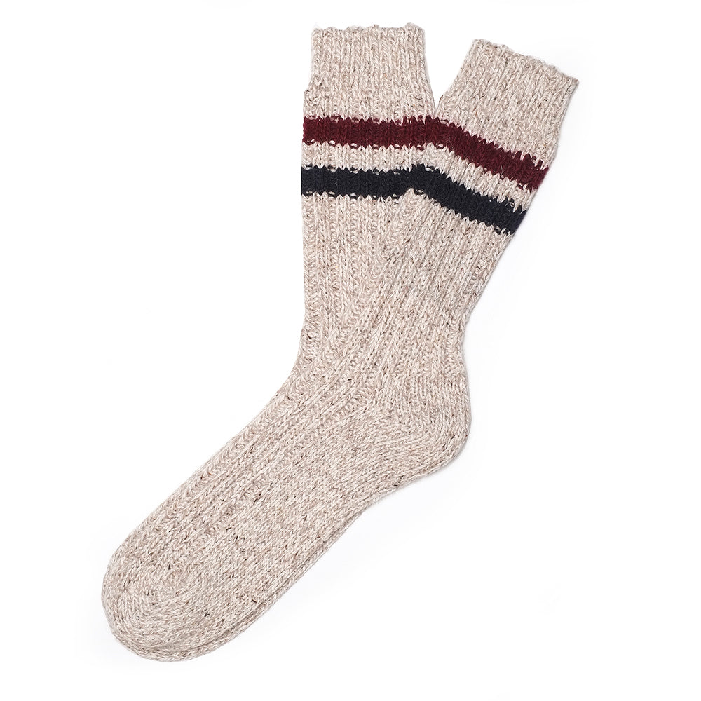 Mens Socks - Mark Mc Nairy Wool Men's Boot Socks - Brown⎪Etiquette Clothiers