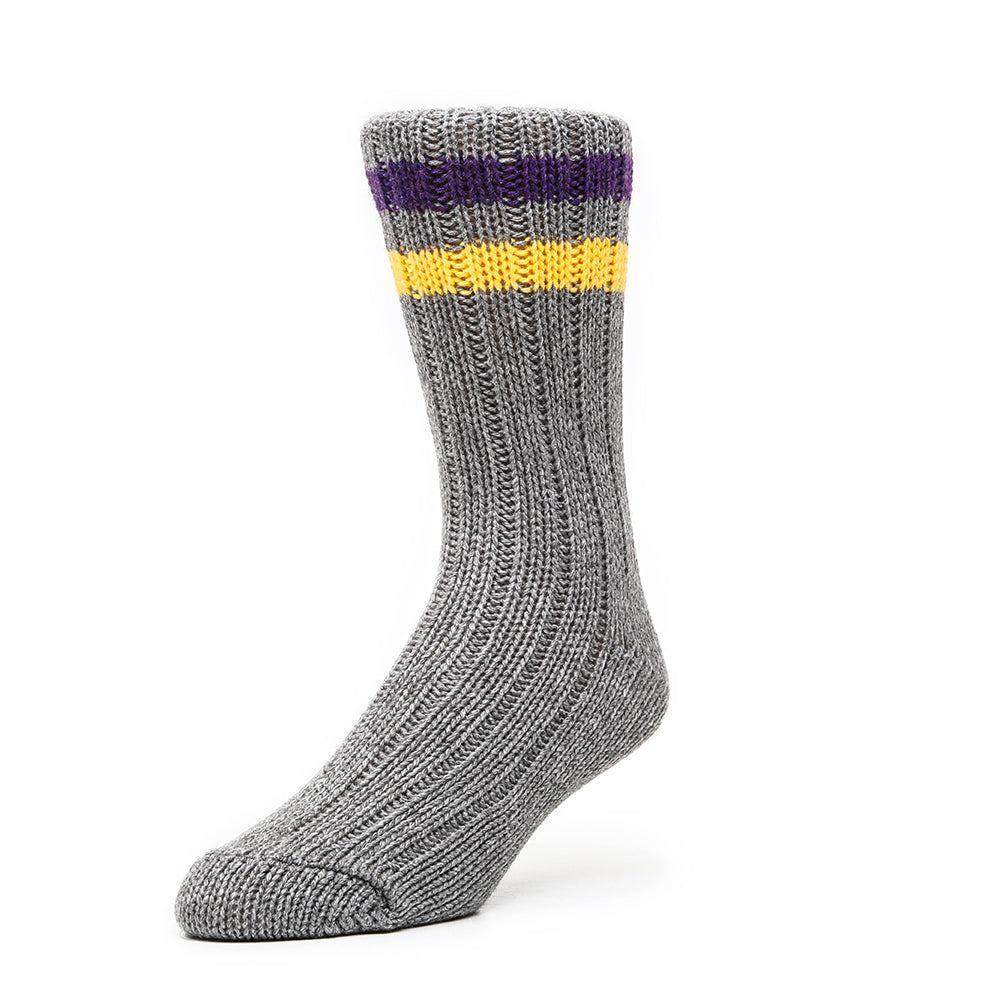Mens Socks - Mark McNairy Cashmere Men's Boot Socks - Grey⎪Etiquette Clothiers