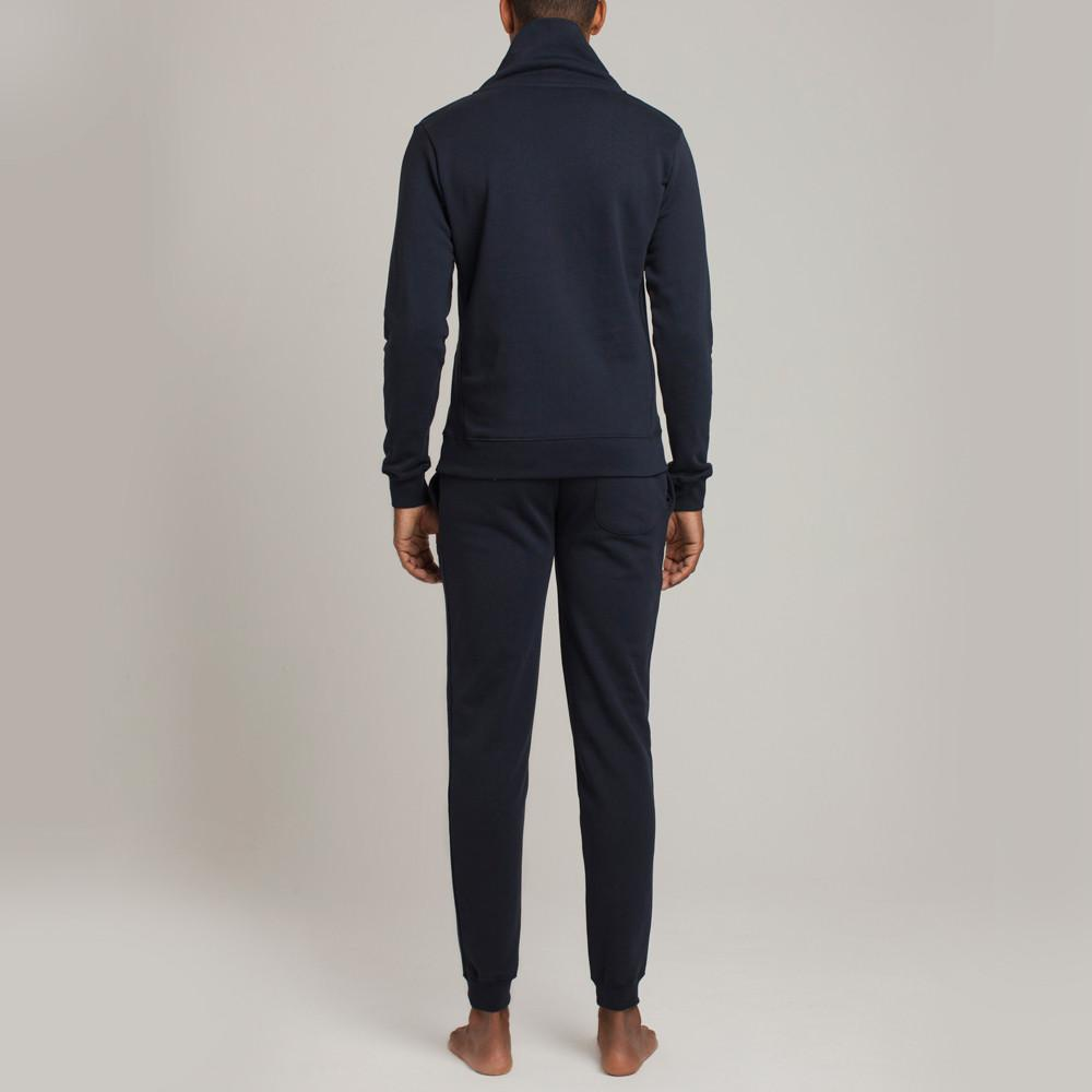 Mens Loungewear - Men's Hudson Loop Terry Shawl Slim Fit Sweater - Blue⎪Etiquette Clothiers