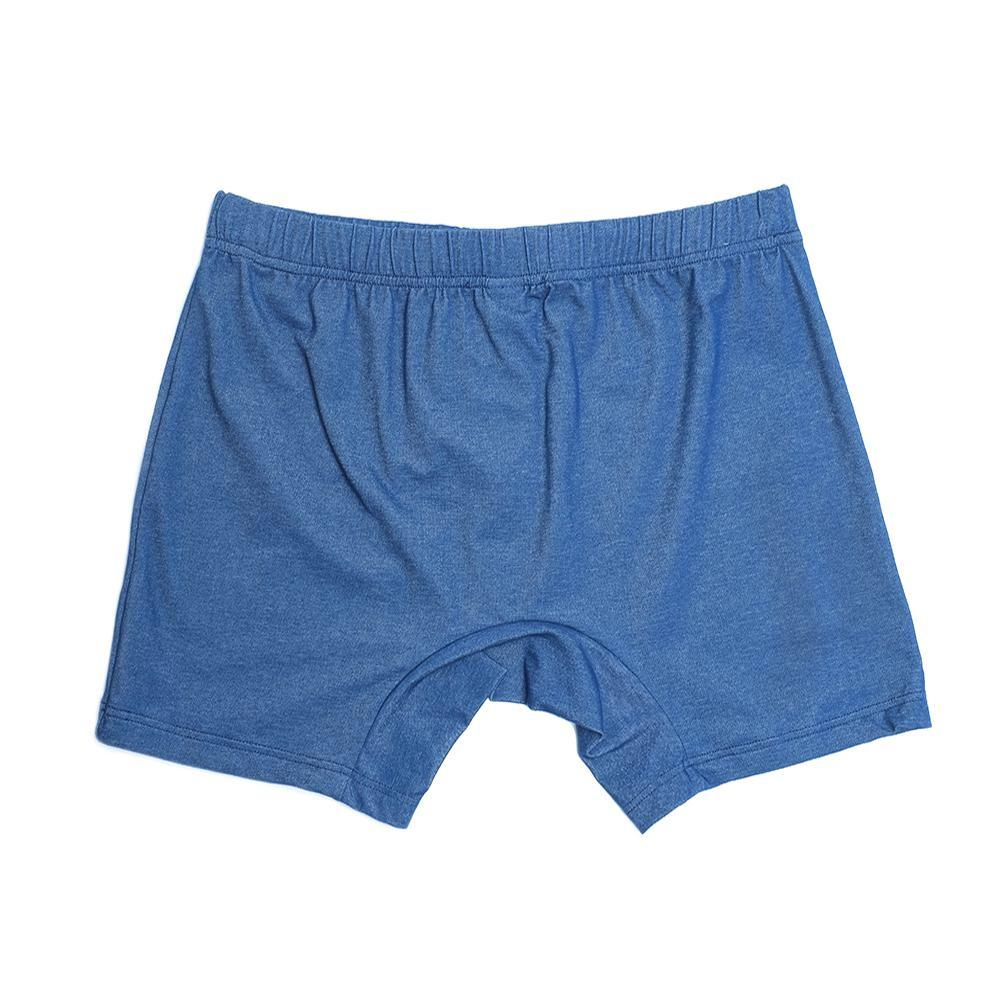 Mens Underwear - Men's Madison Pique Trunks - Indigo Blue⎪Etiquette Clothiers