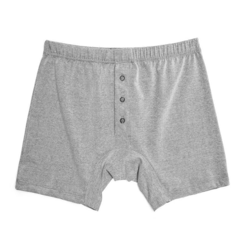 Mens Underwear - Men's Madison Pique Trunks - Grey⎪Etiquette Clothiers