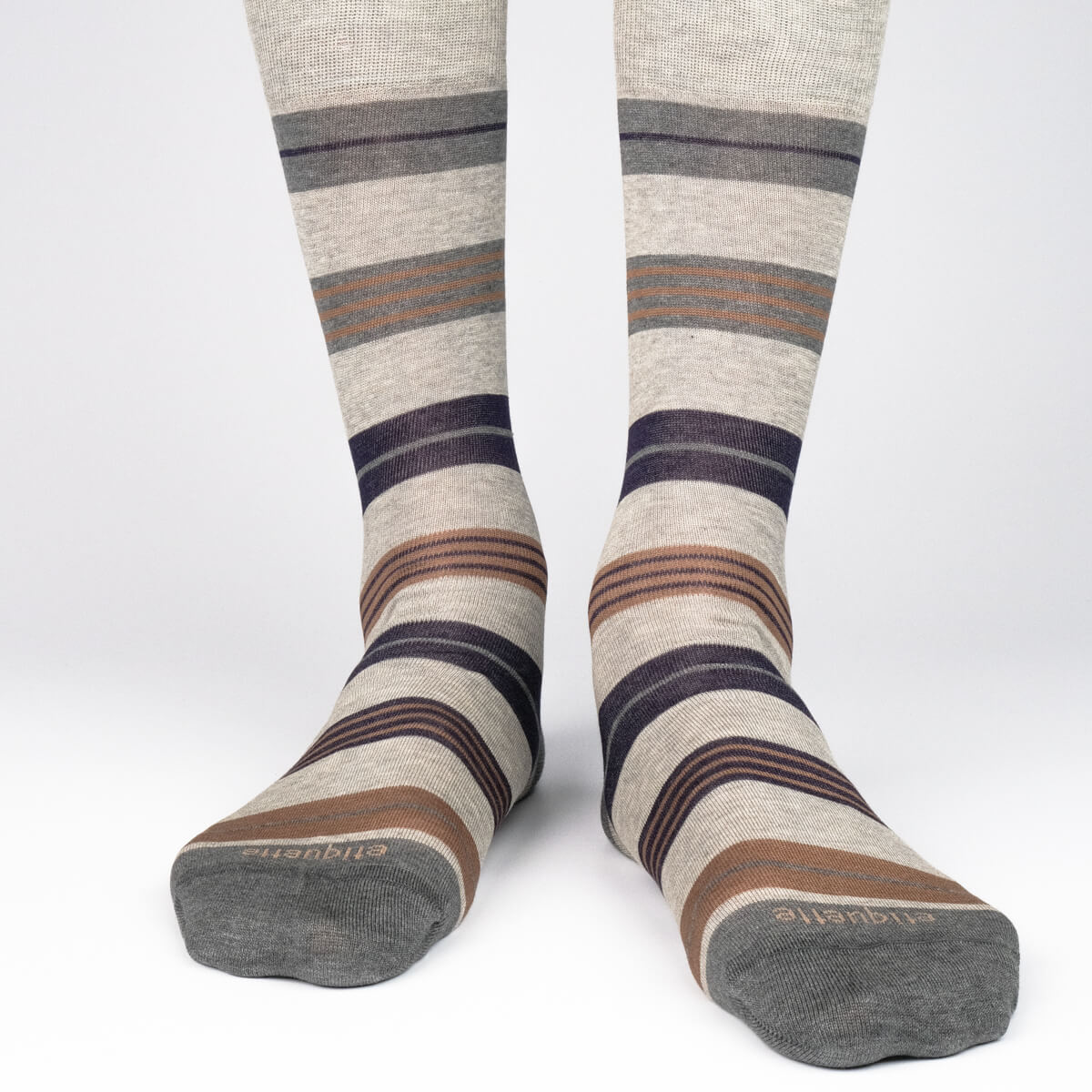 Mens Socks - Amsterdam Stripes Men's Socks - Grey⎪Etiquette Clothiers