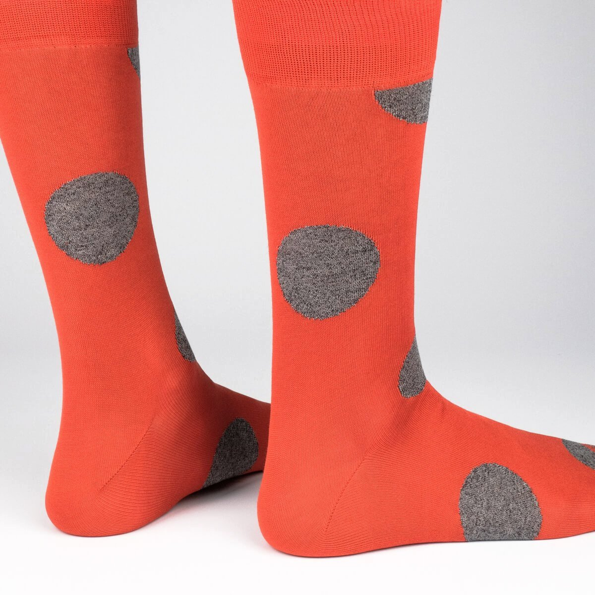 Mens Socks - Big Dots - Orange⎪Etiquette Clothiers