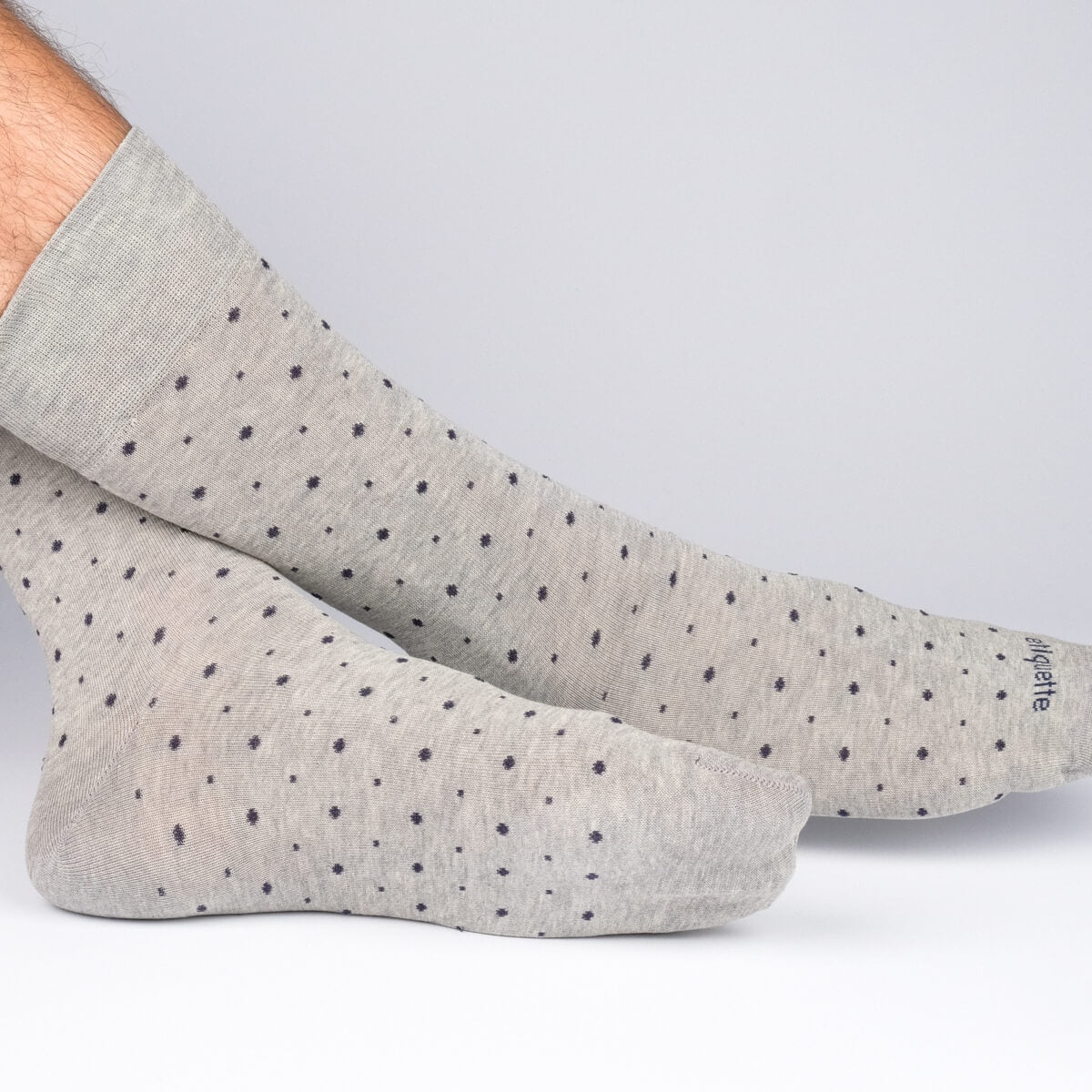Mens Socks - Ball Point Men's Socks - Grey⎪Etiquette Clothiers