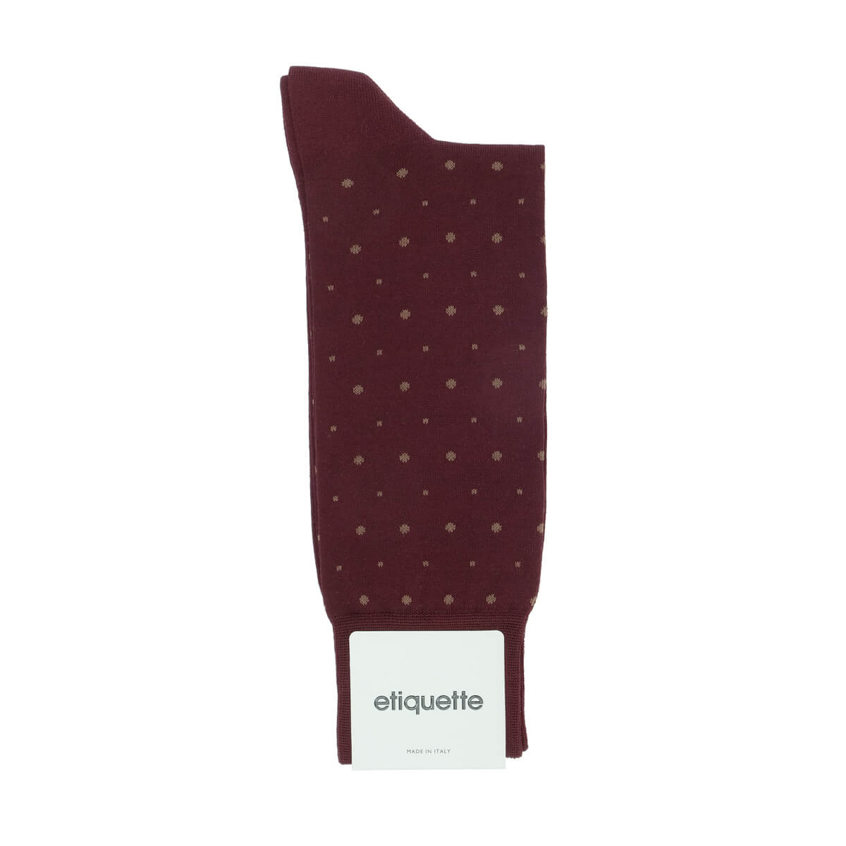 Mens Socks - Ball Point Men's Socks - Bordeaux⎪Etiquette Clothiers