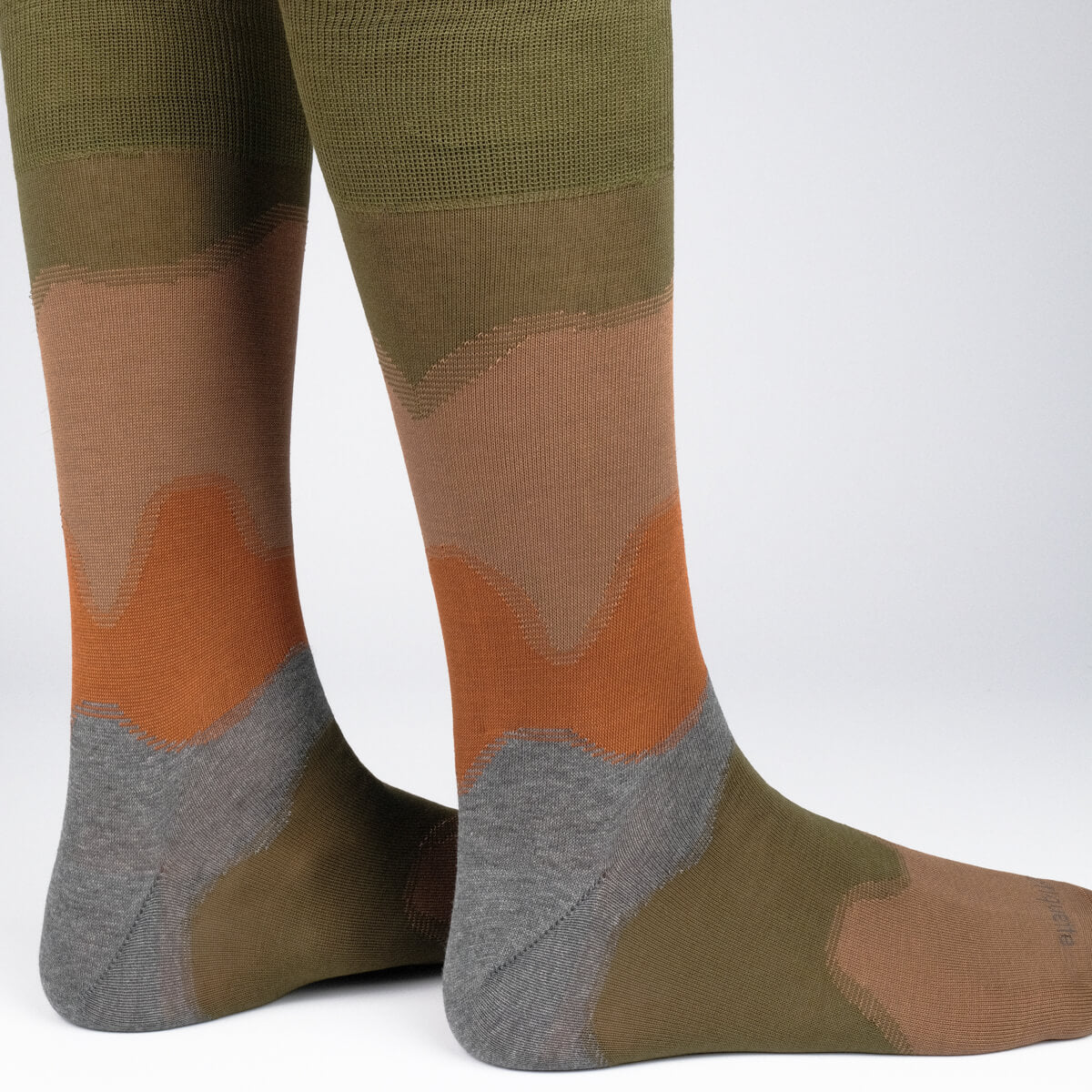 Mens Socks - Idyllic Men's Socks - Green⎪Etiquette Clothiers