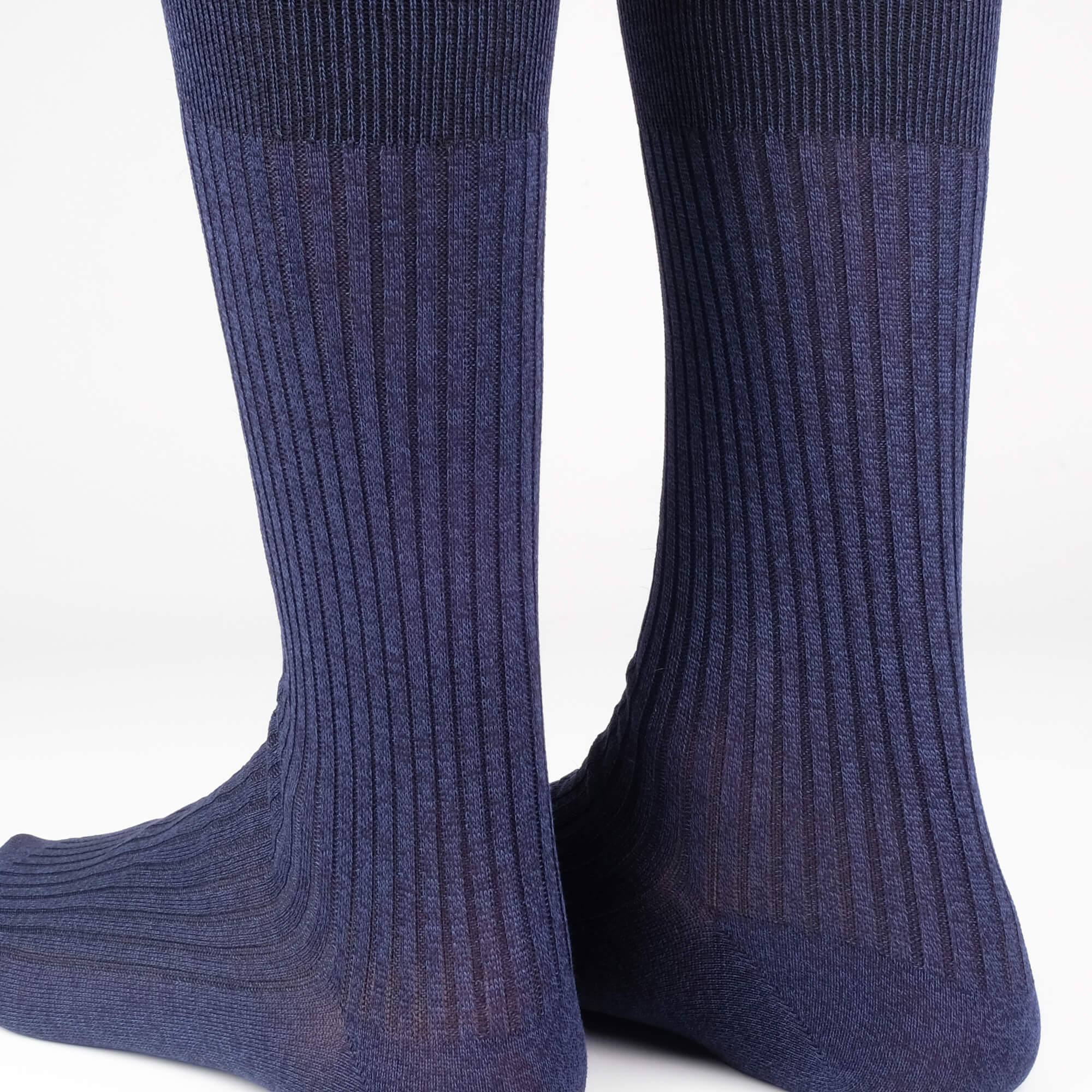 Mens Socks - Thousand Ribs Men's Socks - Blue⎪Etiquette Clothiers