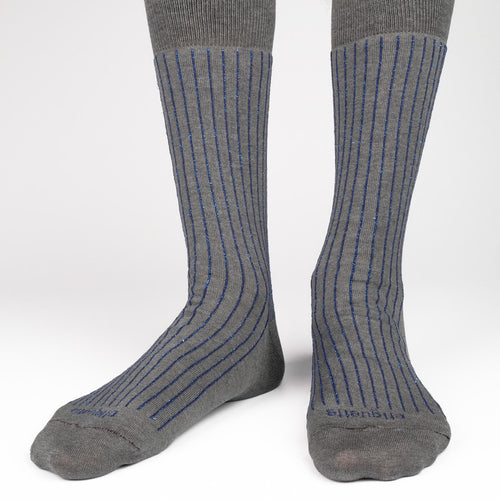 Royal Ribs Metallic Men's Socks  - Alt view
