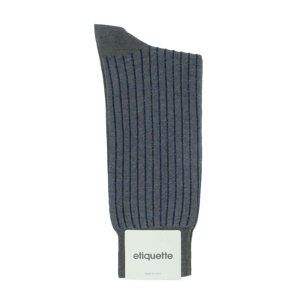 Mens Socks - Royal Ribs Metallic Men's Socks - Dark Grey⎪Etiquette Clothiers