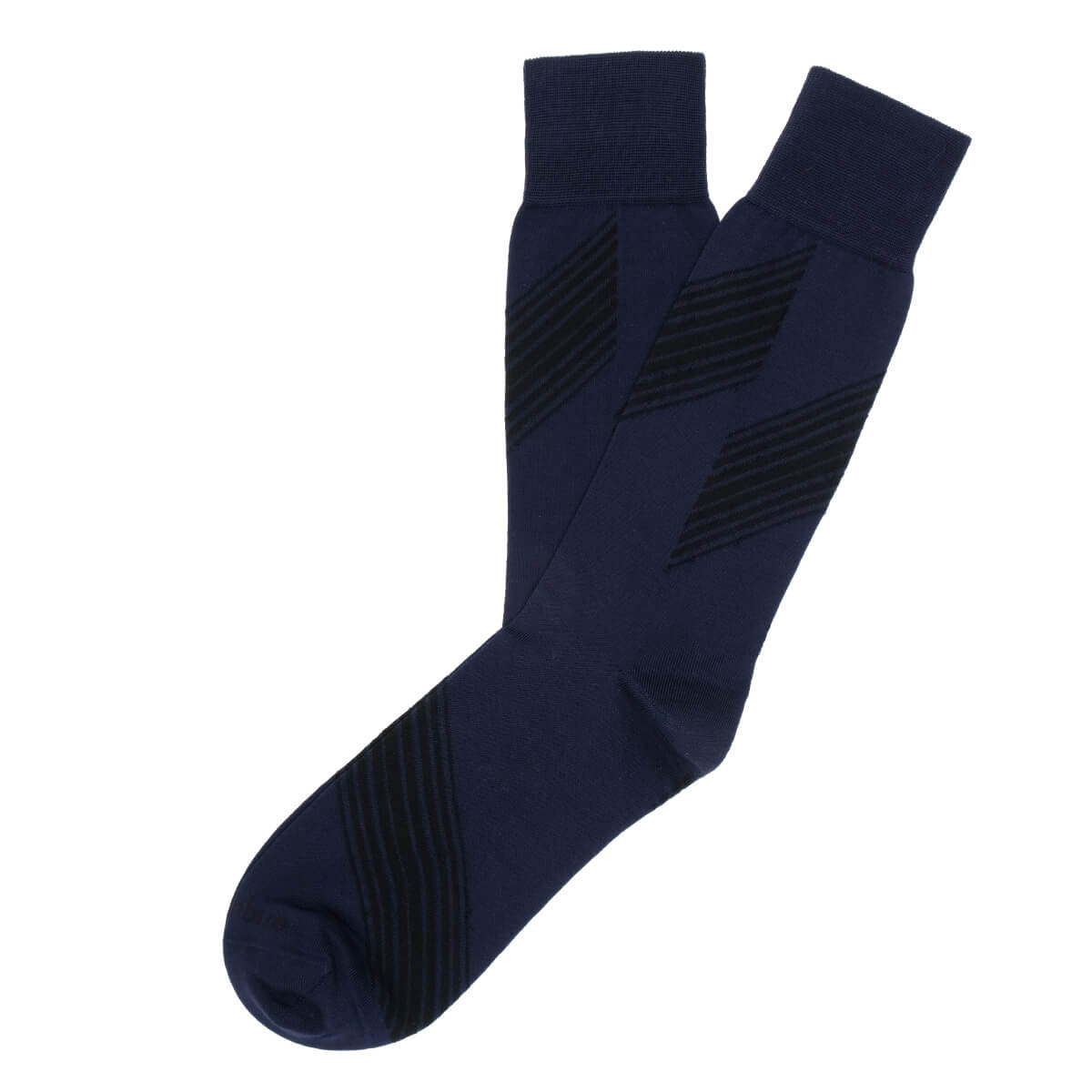 Mens Socks - Shanghai Stripes - Dark Blue⎪Etiquette Clothiers