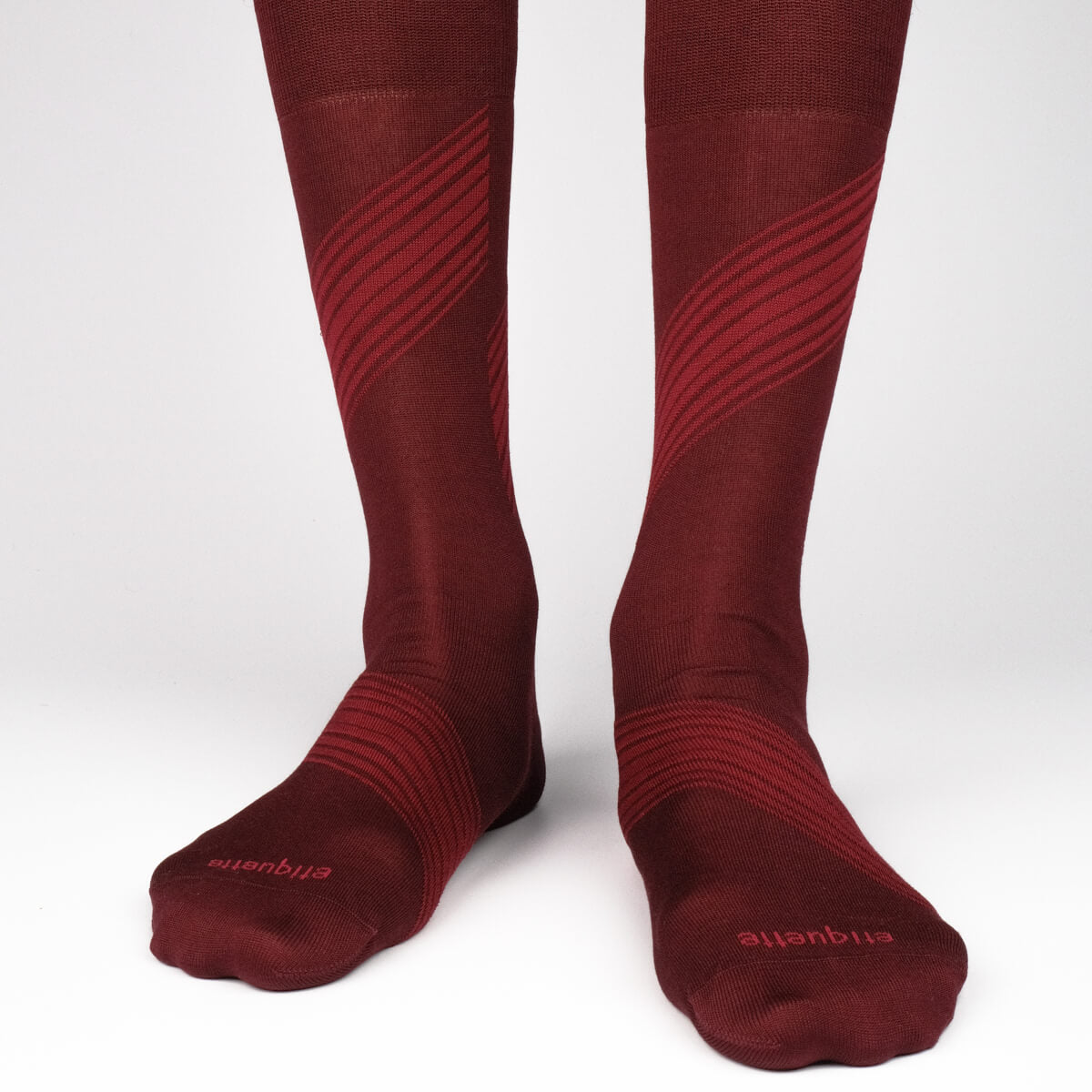Mens Socks - Shanghai Stripes - Bordeaux⎪Etiquette Clothiers