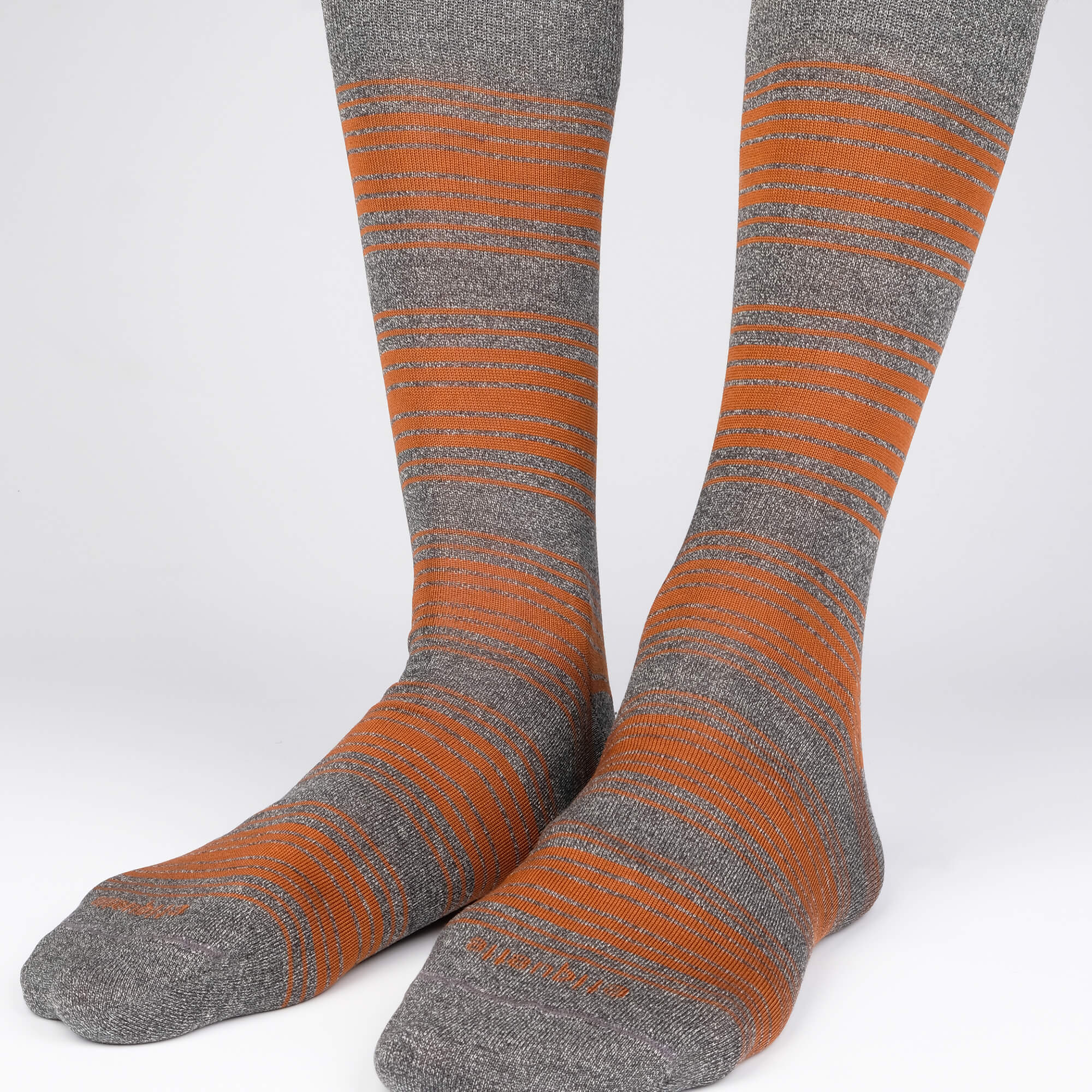 Mens Socks - Tokyo Stripes - Dark Grey / Brown⎪Etiquette Clothiers