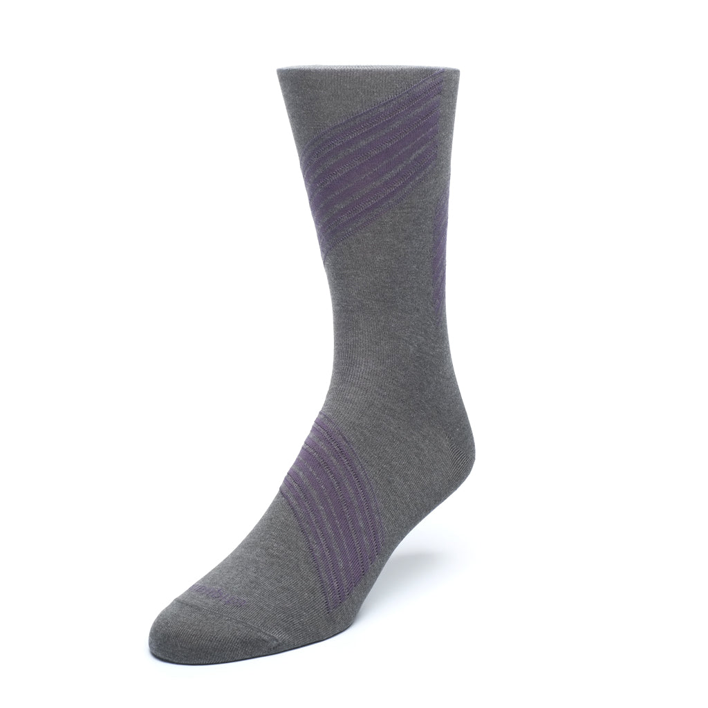 Mens Socks - Shanghai Stripes Men's Socks - Grey⎪Etiquette Clothiers
