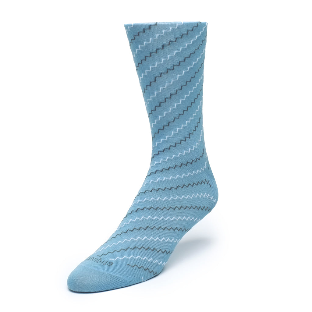Mens Socks - Step It Up Men's Socks - Light Blue⎪Etiquette Clothiers