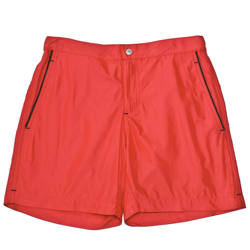Mens Loungewear - Men's Ariston Board Slim Fit Shorts - Red⎪Etiquette Clothiers