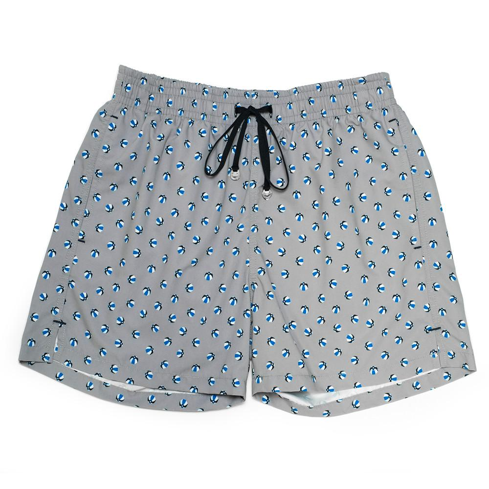 Mens Swimwear - Men's Corsaro Swim Trunk Balls - Grey⎪Etiquette Clothiers