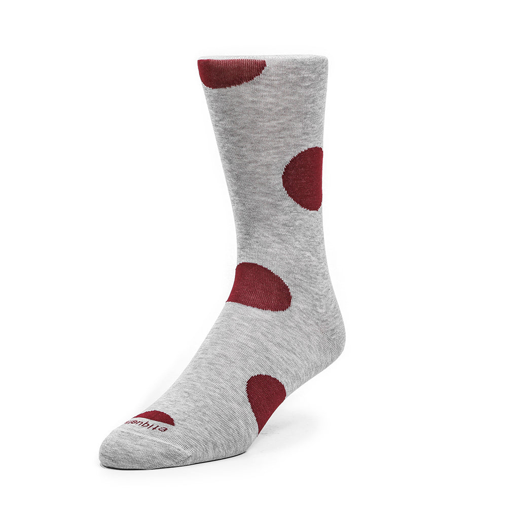 Mens Socks - Big Dot - Grey⎪Etiquette Clothiers