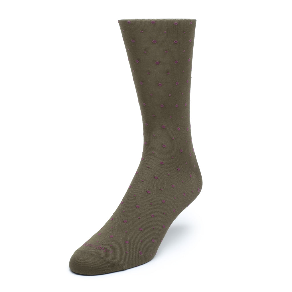 Mens Socks - Ball Point Men's Socks - Moss⎪Etiquette Clothiers