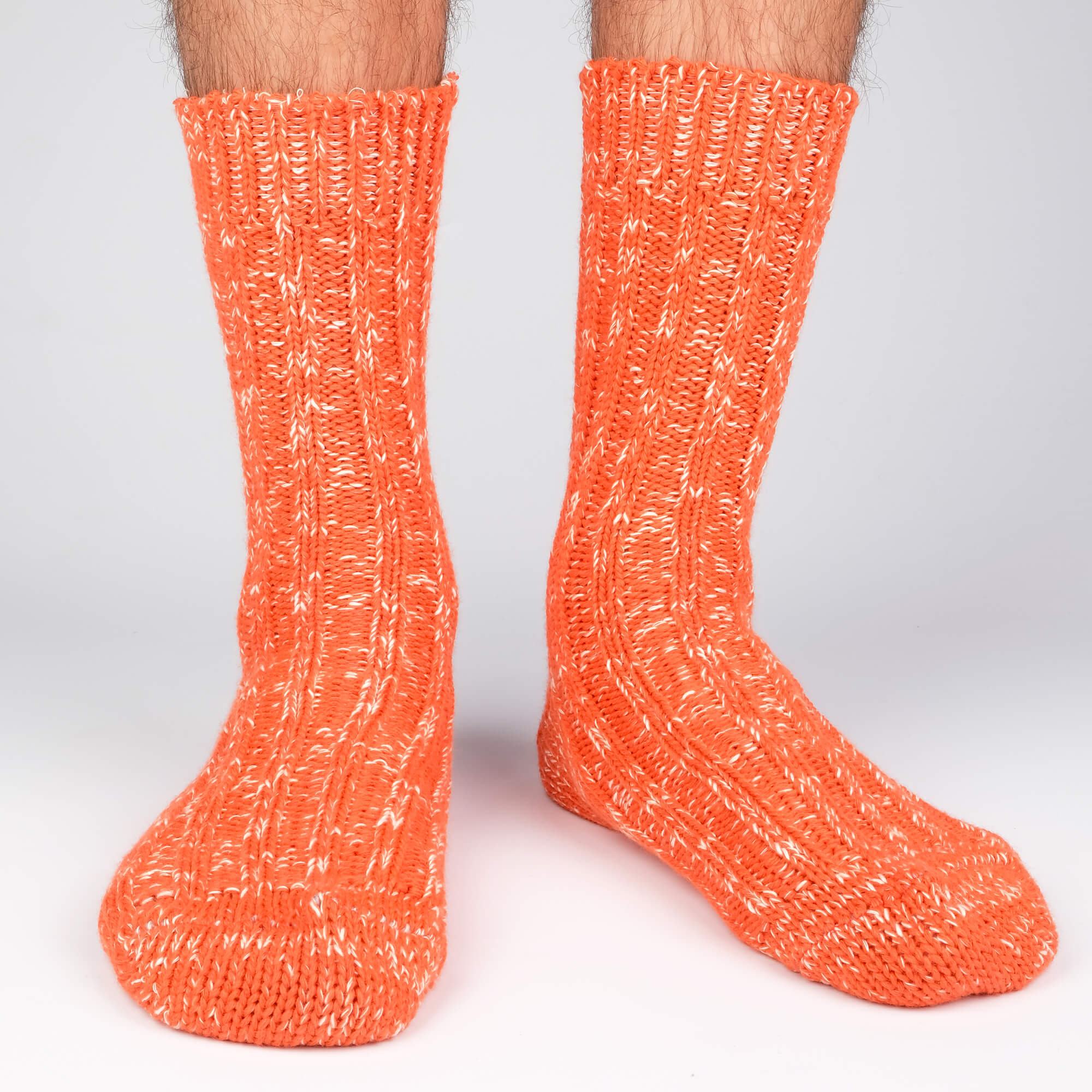 Mens Socks - Niseko Men's Socks - Orange⎪Etiquette Clothiers