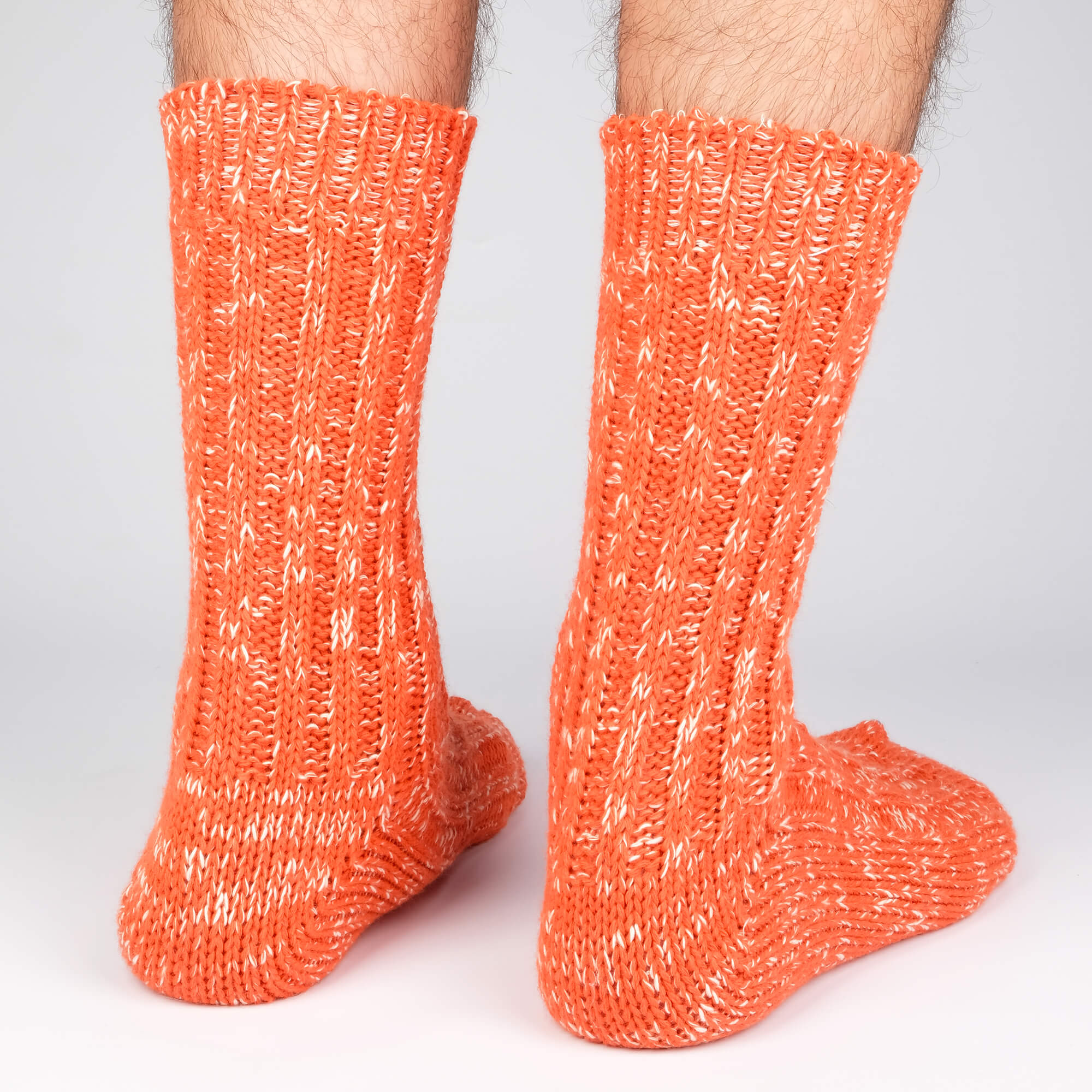 Mens Socks - Niseko - Orange⎪Etiquette Clothiers