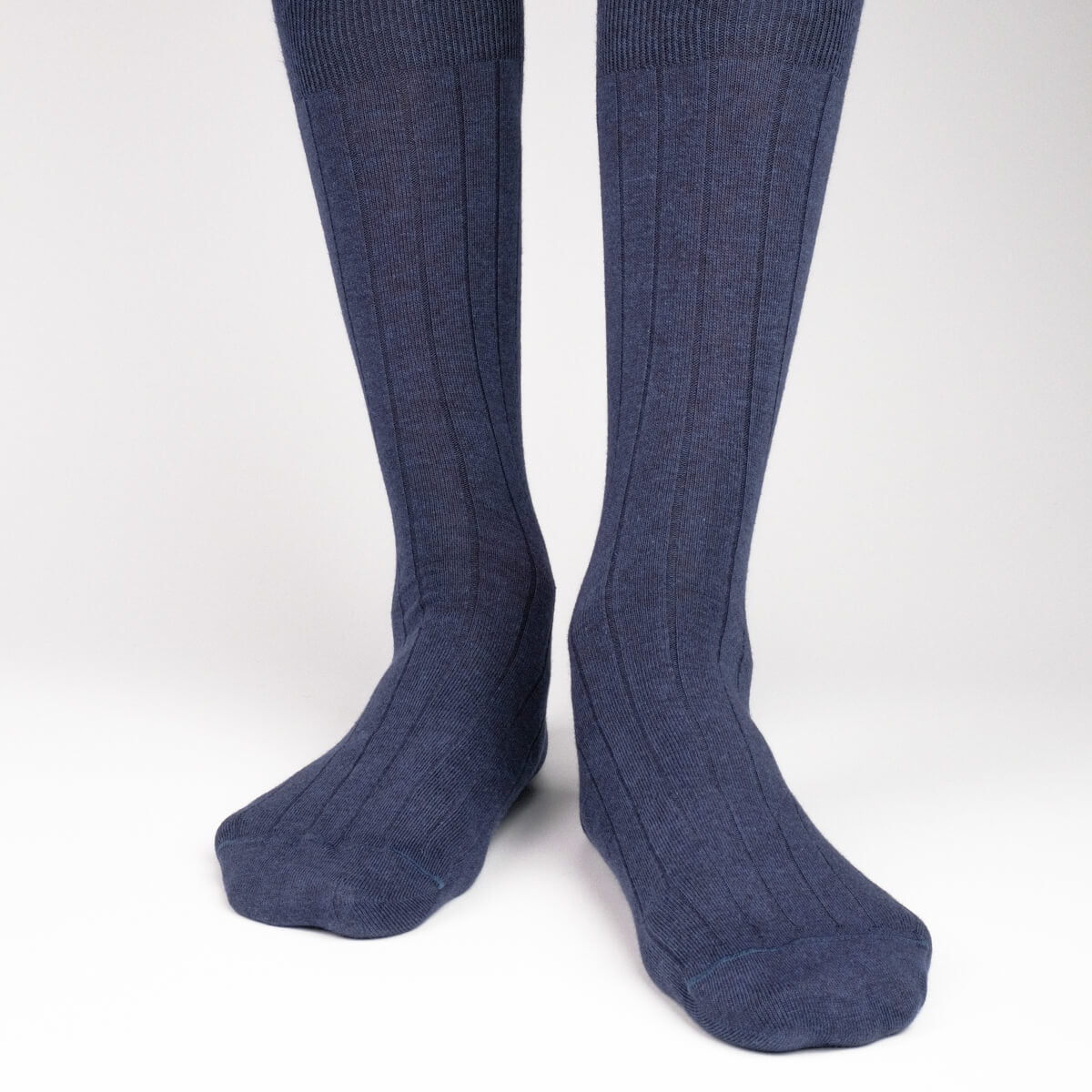 Mens Socks - The Classic Rib Men's Socks - Blue⎪Etiquette Clothiers