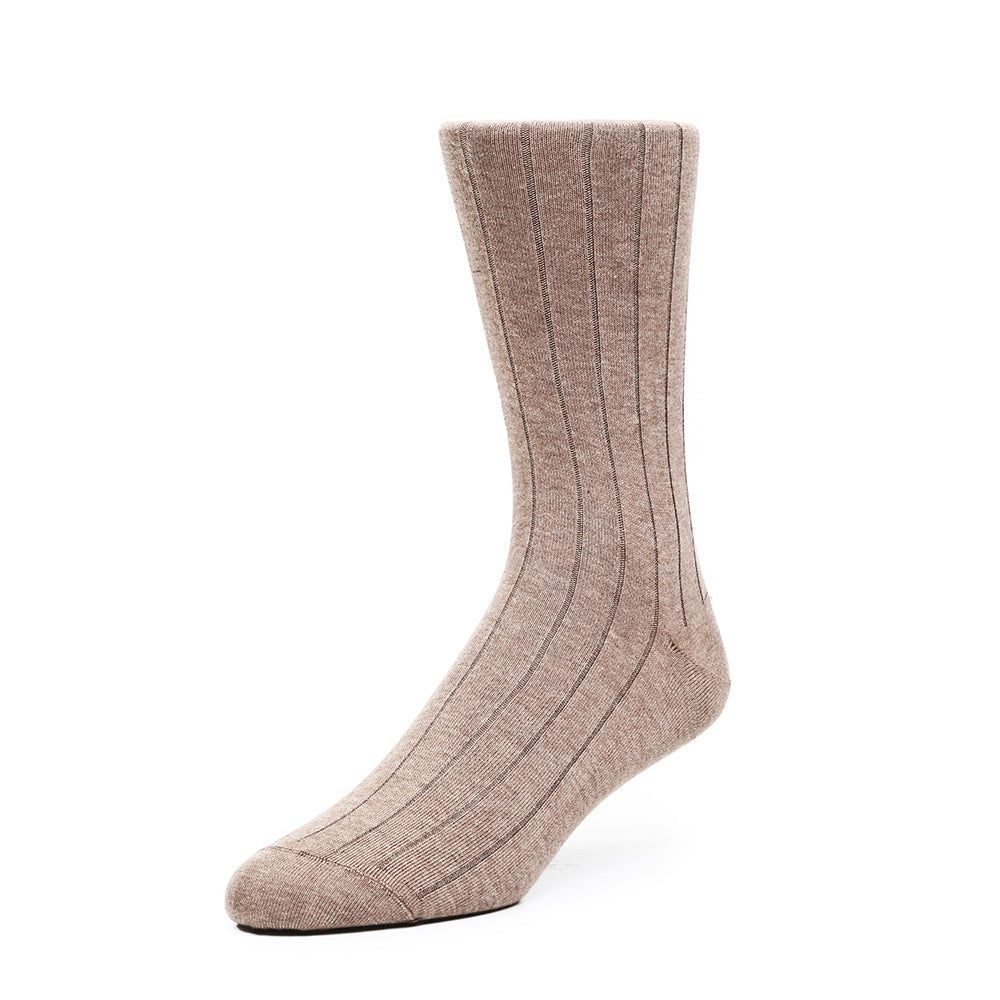Mens Socks - The Classic Rib Men's Socks - Brown⎪Etiquette Clothiers