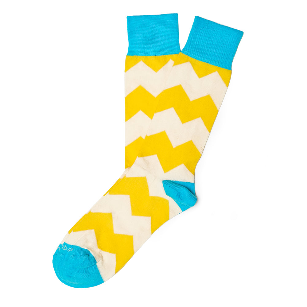 Mens Socks - Everest Stripes - Yellow⎪Etiquette Clothiers