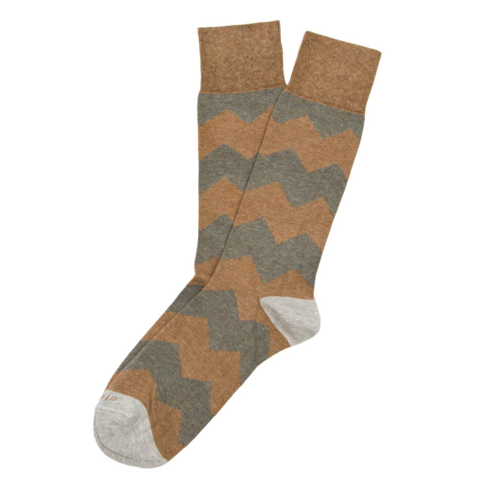 Mens Socks - Everest Stripes Men's Socks - Brown⎪Etiquette Clothiers