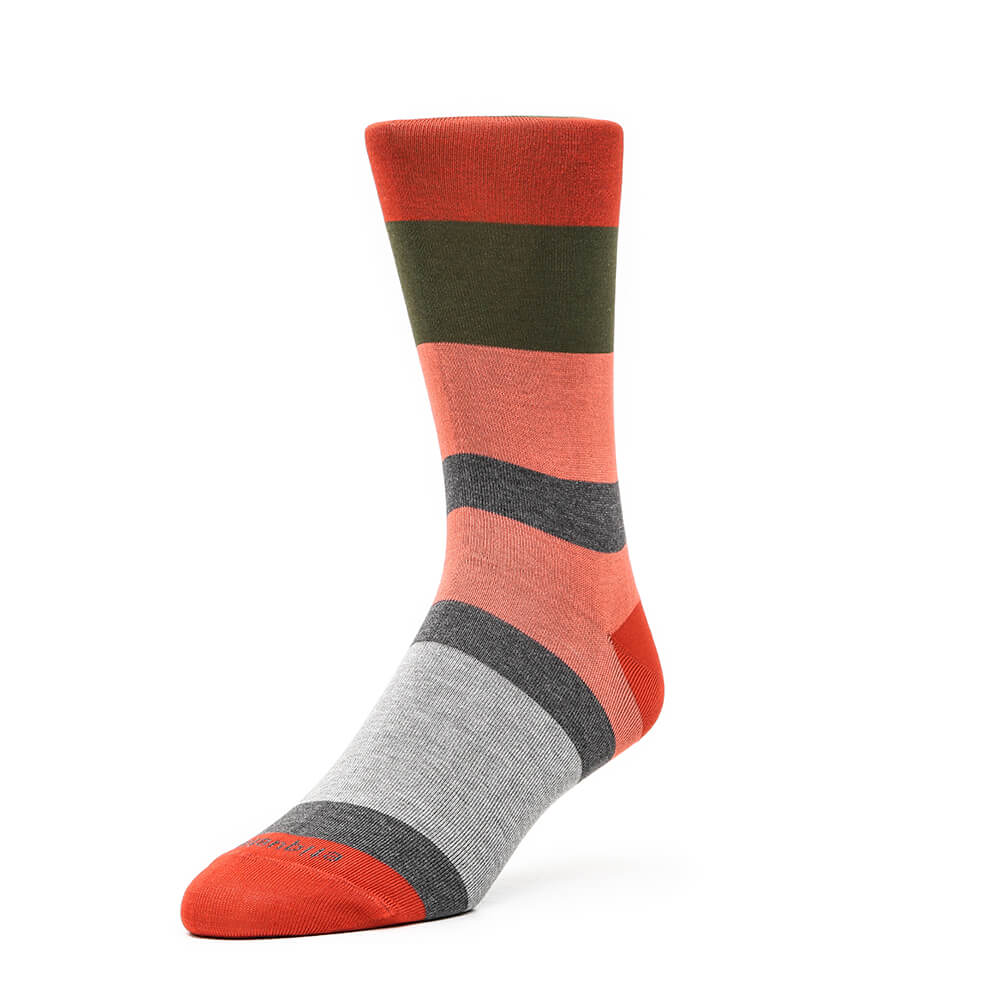 Mens Socks - London Stripes - Orange⎪Etiquette Clothiers
