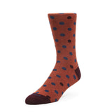 Mens Socks - Mix Polka Men's Socks - Brown⎪Etiquette Clothiers