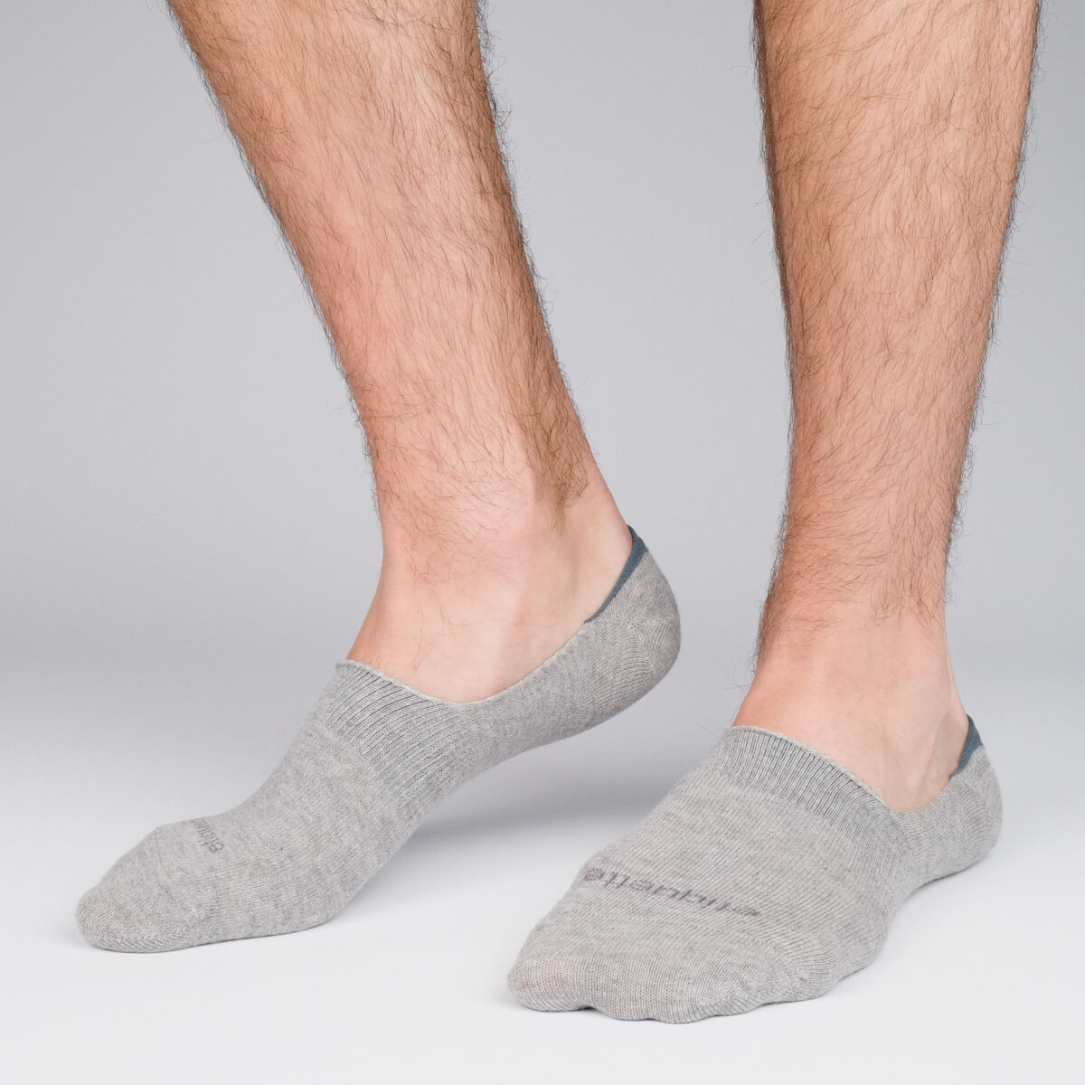 Mens Socks - Men's No Show Socks 3 Pack - Grey⎪Etiquette Clothiers