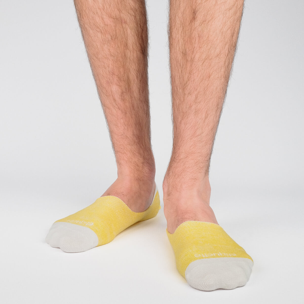 Mens Socks - Men's No Show Socks Roppongi - Yellow⎪Etiquette Clothiers
