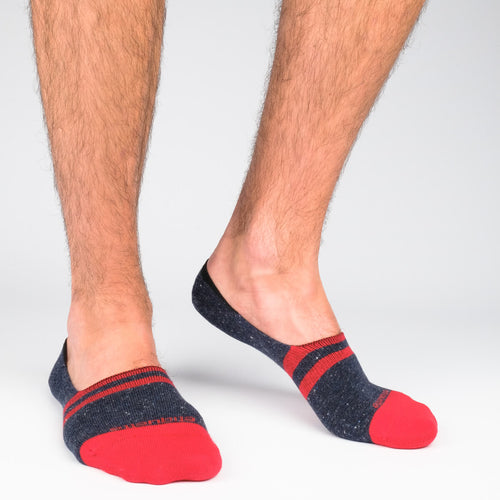 Men's No Show Socks Nope Stripes  - Alt view