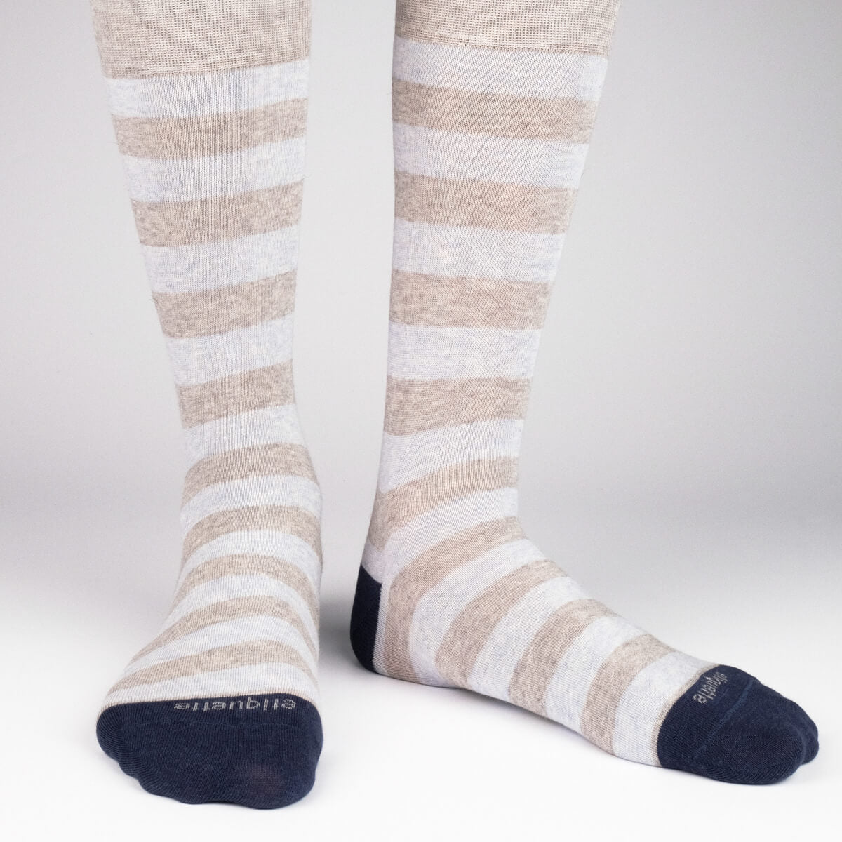 Mens Socks - Rugby Stripes Men's Socks - Grey⎪Etiquette Clothiers