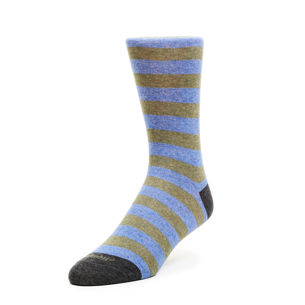 Mens Socks - Rugby Stripes - Green⎪Etiquette Clothiers