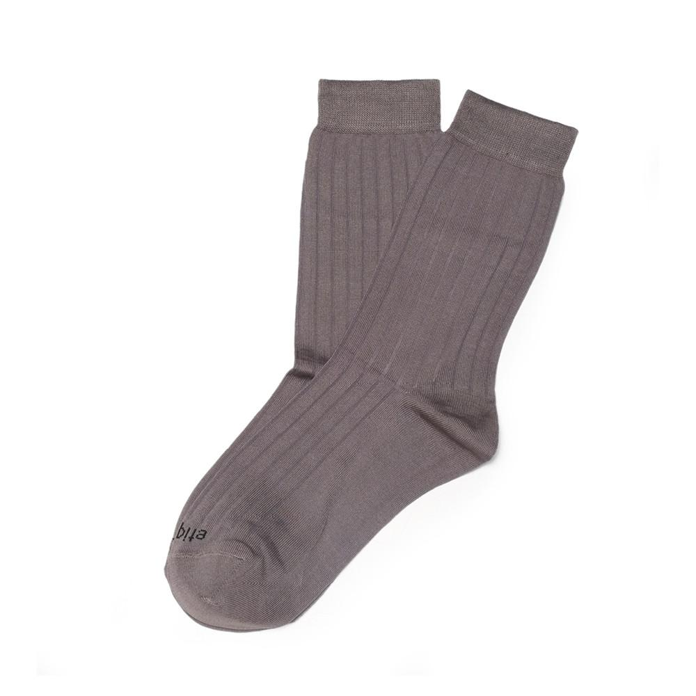 Womens Socks - Basic Luxuries Ribbed Women's Socks - Grey⎪Etiquette Clothiers