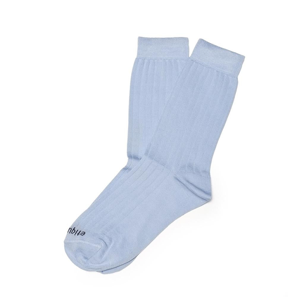 Womens Socks - Basic Luxuries Ribbed - Light Blue⎪Etiquette Clothiers