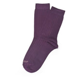 Womens Socks - Basic Luxuries Ribbed Women's Socks - Purple⎪Etiquette Clothiers