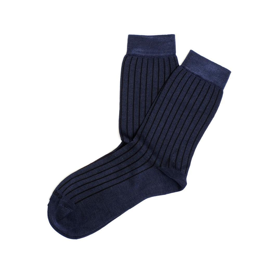 Womens Socks - Royal Ribs Women's Socks - Dark Blue⎪Etiquette Clothiers
