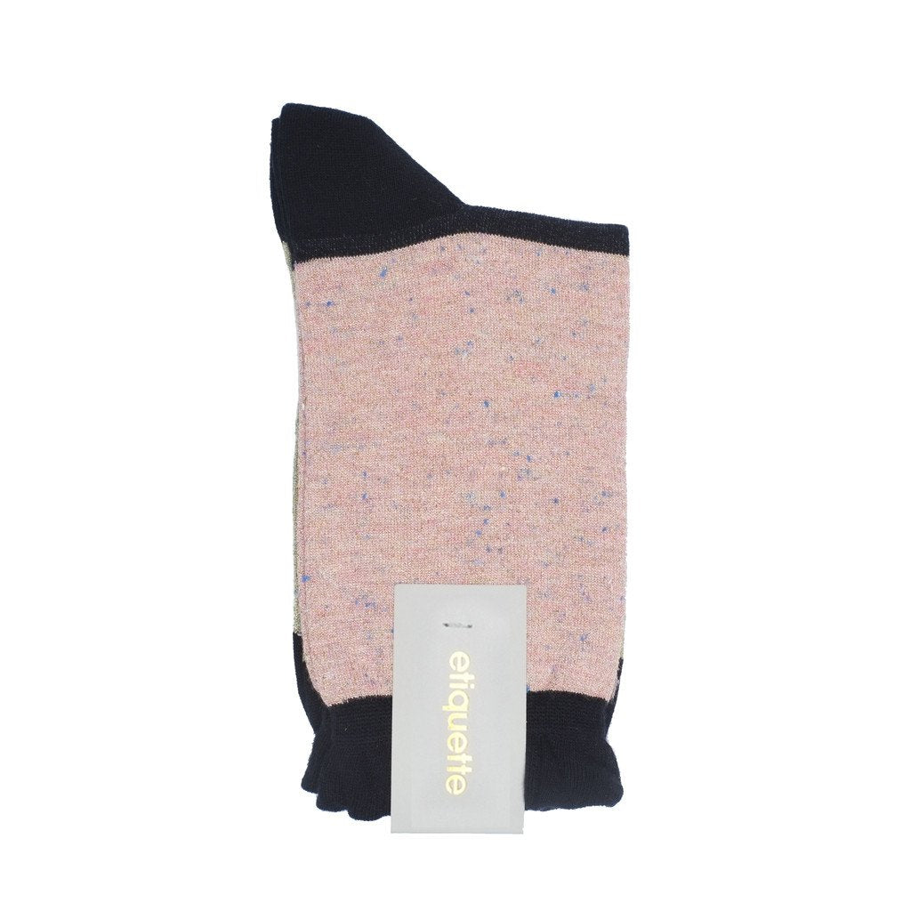 Womens Socks - Charming Trio Women's Socks - Pink Metallic⎪Etiquette Clothiers