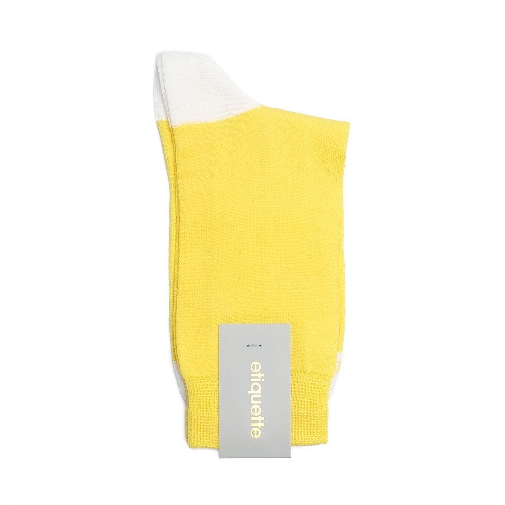 Womens Socks - Duo Pops Women's Socks - Yellow⎪Etiquette Clothiers