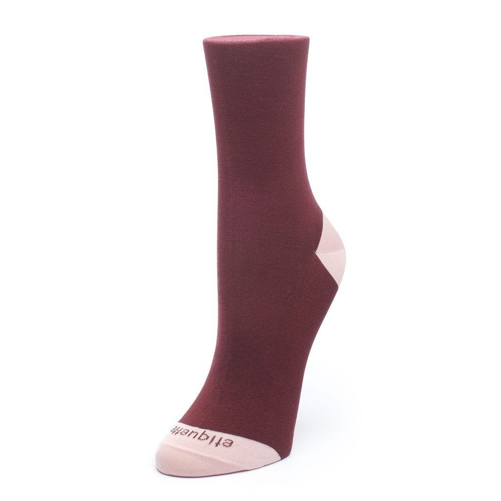 Womens Socks - Duo Pops Women's Socks - Bordeaux⎪Etiquette Clothiers